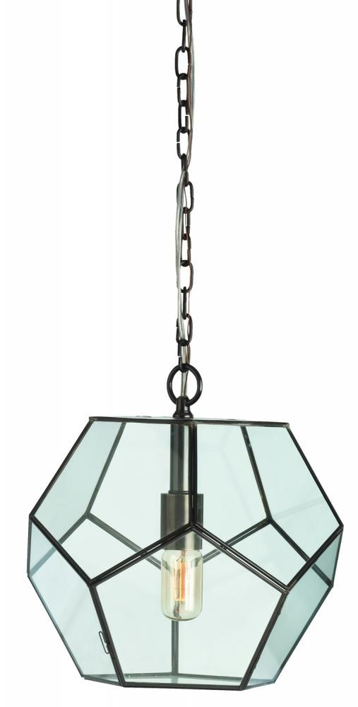 Tenley Small Bronze Iron Glass Faceted Pendant Legend Lighting Inc Lighting Lighting Inc Pendant