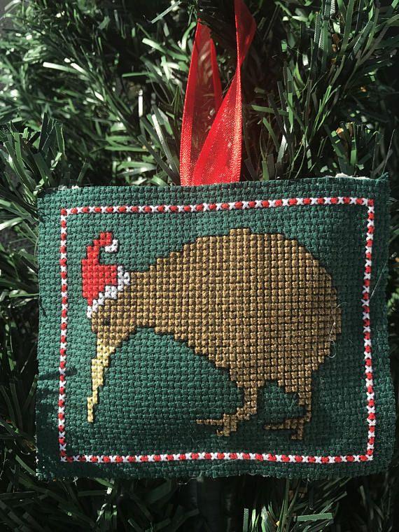 New Zealand Christmas Kiwi Cross Stitch Pattern Diy Christmas Etsy Cross Stitch Patterns Cross Stitch Patterns Christmas Santa Cross Stitch
