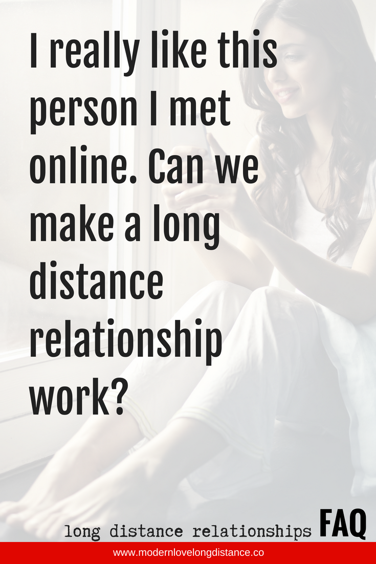 Does long distance online dating work
