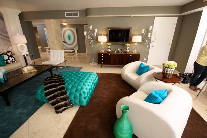 Bromstad_Perrera_House005  Living In My Livingroom Pinterest Adorable Brown And Turquoise Living Room Design Inspiration