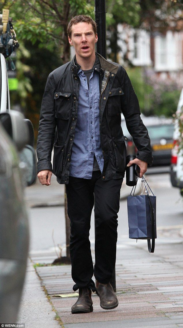 Father To Be Benedict Cumberbatch Enjoys Casual Outing In London