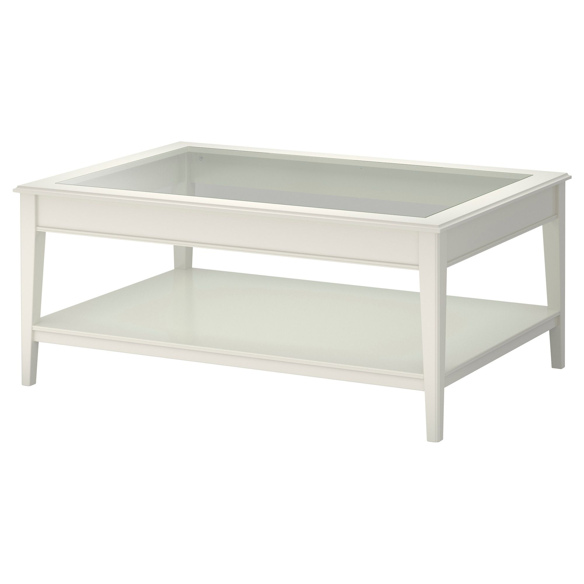 Ikea Liatorp Tisch display coffee table put stones and led votive lights the