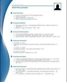 Modelos Y Plantillas De Curriculum Vitae En Word Unas Curriculum
