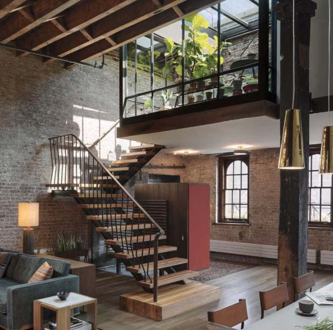 Waterfront Townhome Boasts Cool Urban Style: Stylish Living // Urban Loft // Urban Life // City Living