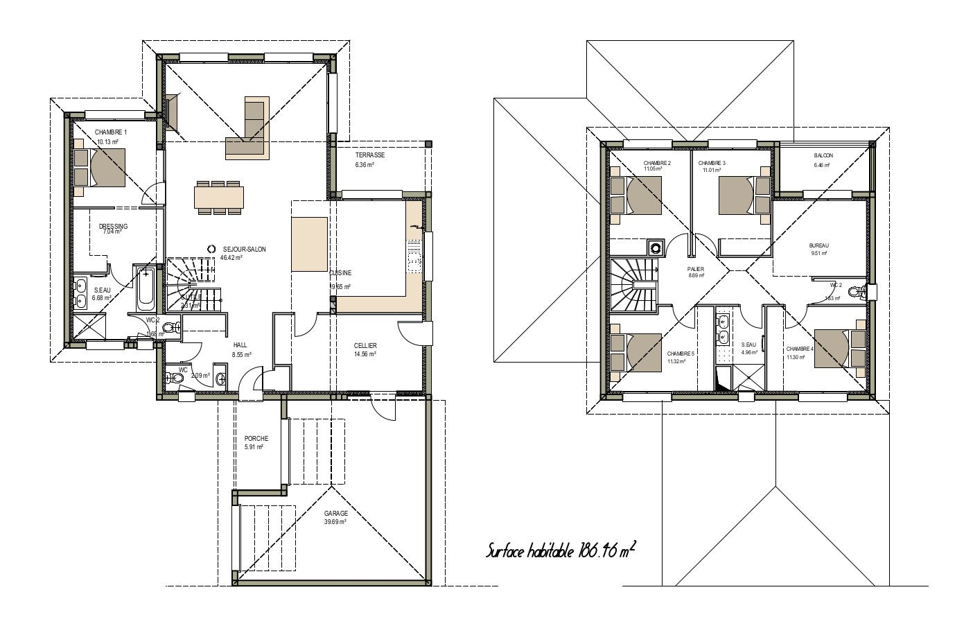 Charming Plan Maison Sur Mesure. Ariane Constructions, Constructeur De Maisons  Modernes En Gironde Met En