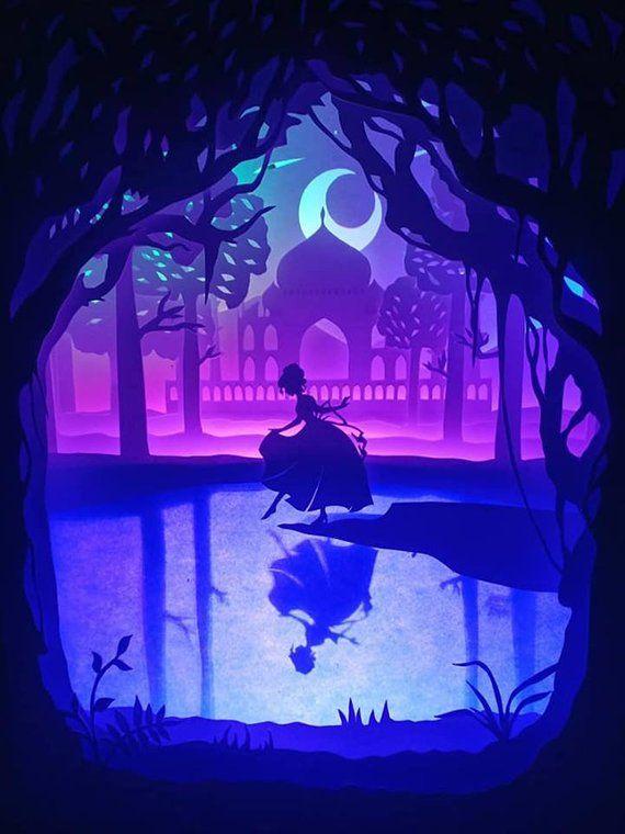 Paper Cutting Light Box Template Files Princess Lost Shoe Shadow Digital