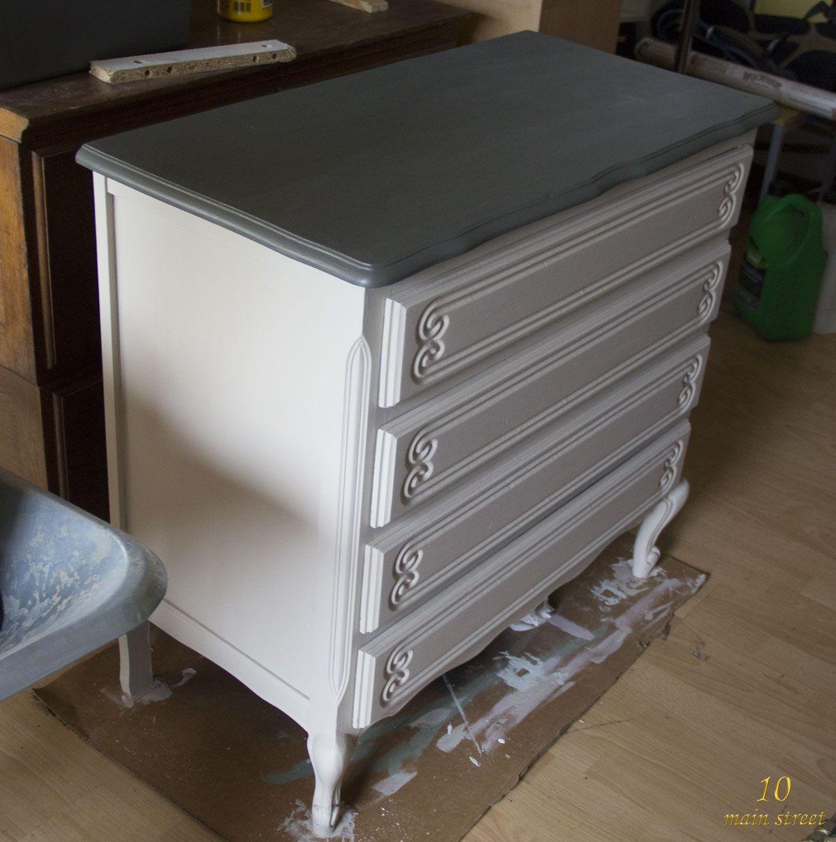 J 39 ai test la chalk pain action comme sous couche sur la - Peinture pour meuble sans sous couche ...
