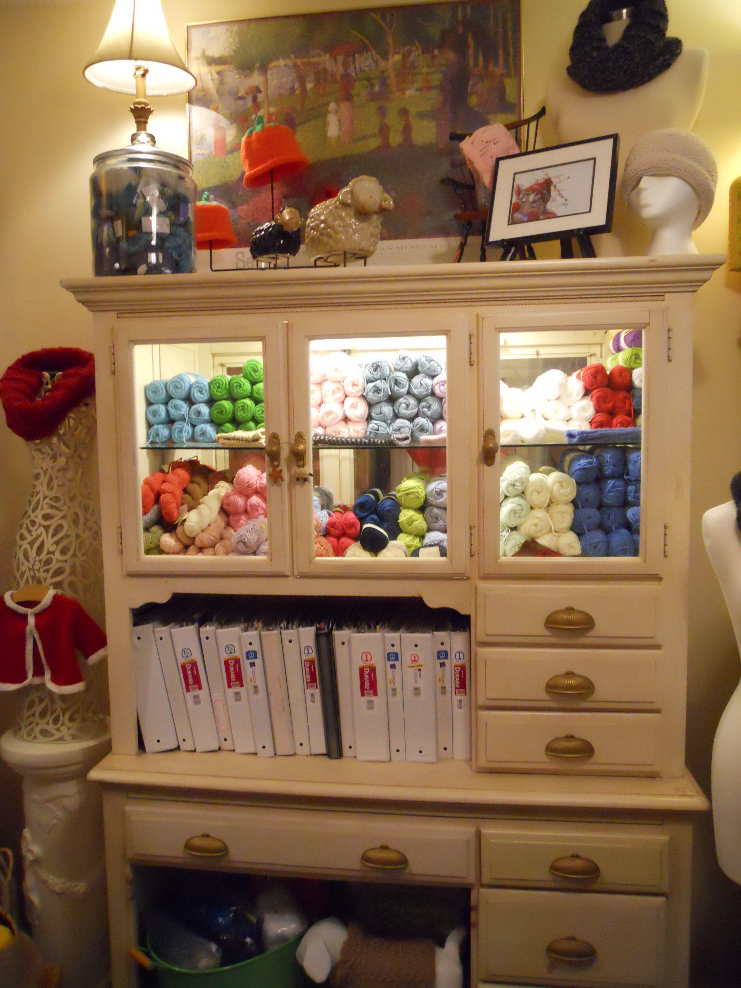 Knitting Roomfi : Yarn display in my knitting room craft