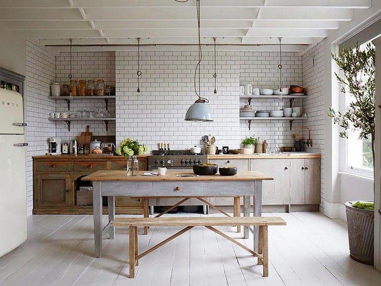 Cuisine rustique moderne : 20 modèles de cuisine d\'intérieur ...
