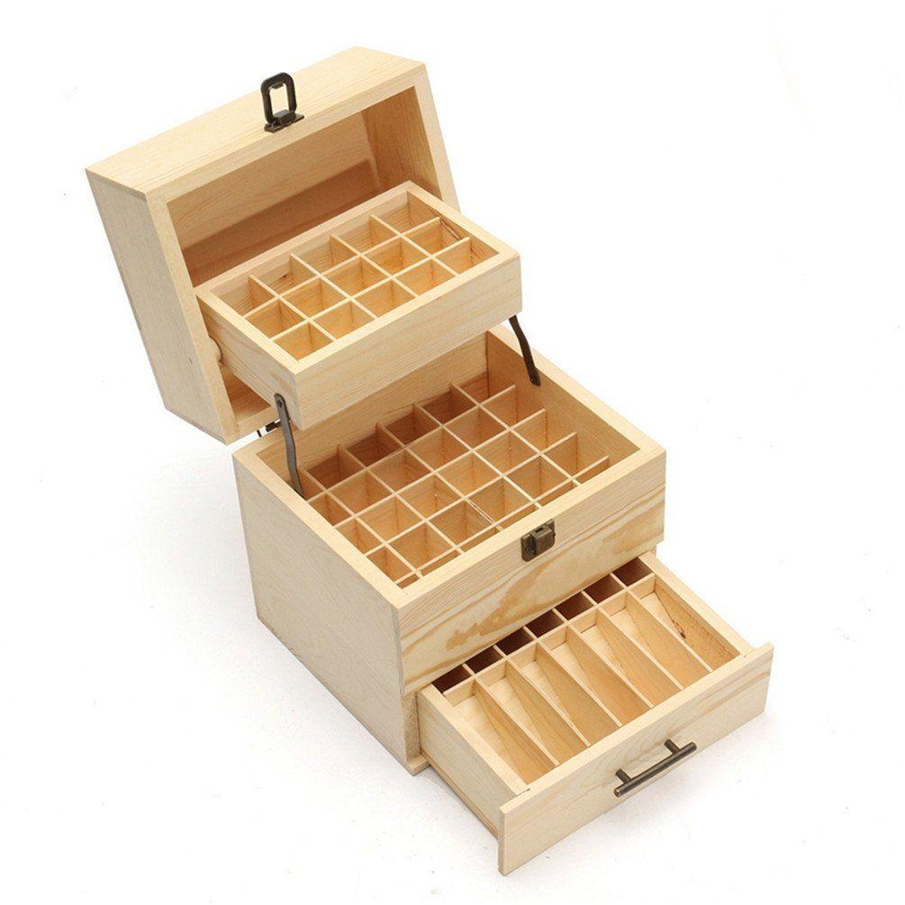Gooday 3 Tier 59 Holes Essential Oil Storage Box Wooden Case Wood Container Organizer Display Amazon Ca H Muebles De Carton Diseno Madera Carpinteria Madera