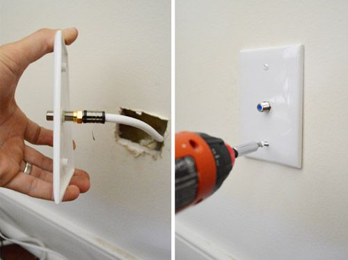 How To Run A New Cable Wire Hide tv cords, Plates on