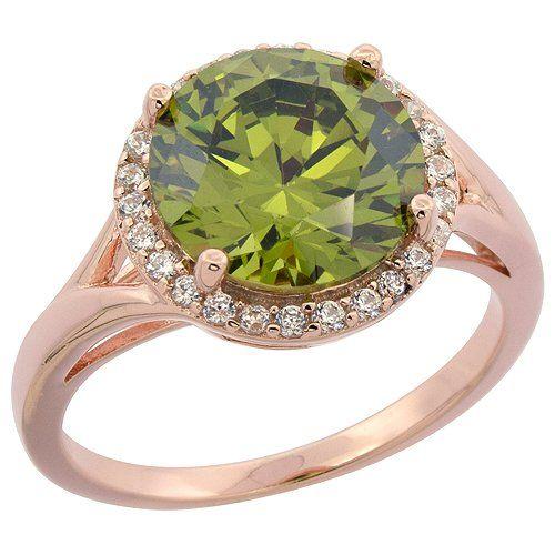 Sterling Silver Round Peridot Ring Halo CZ Rose Gold Fini... http://www.amazon.com/dp/B00JQN8BLC/ref=cm_sw_r_pi_dp_IW9mxb0J2C6B6