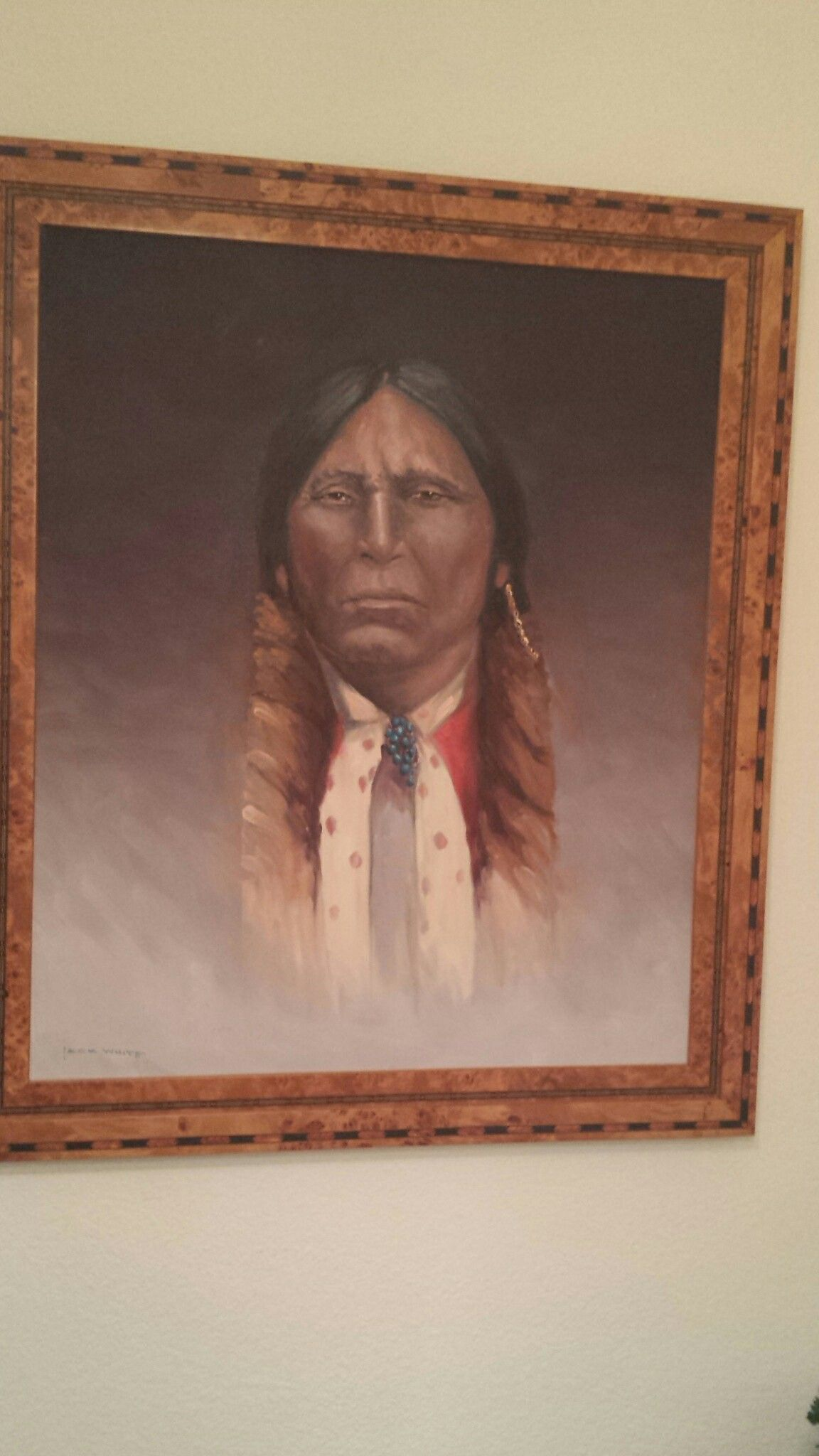 My Quanah Parker picture painted by Jack White.