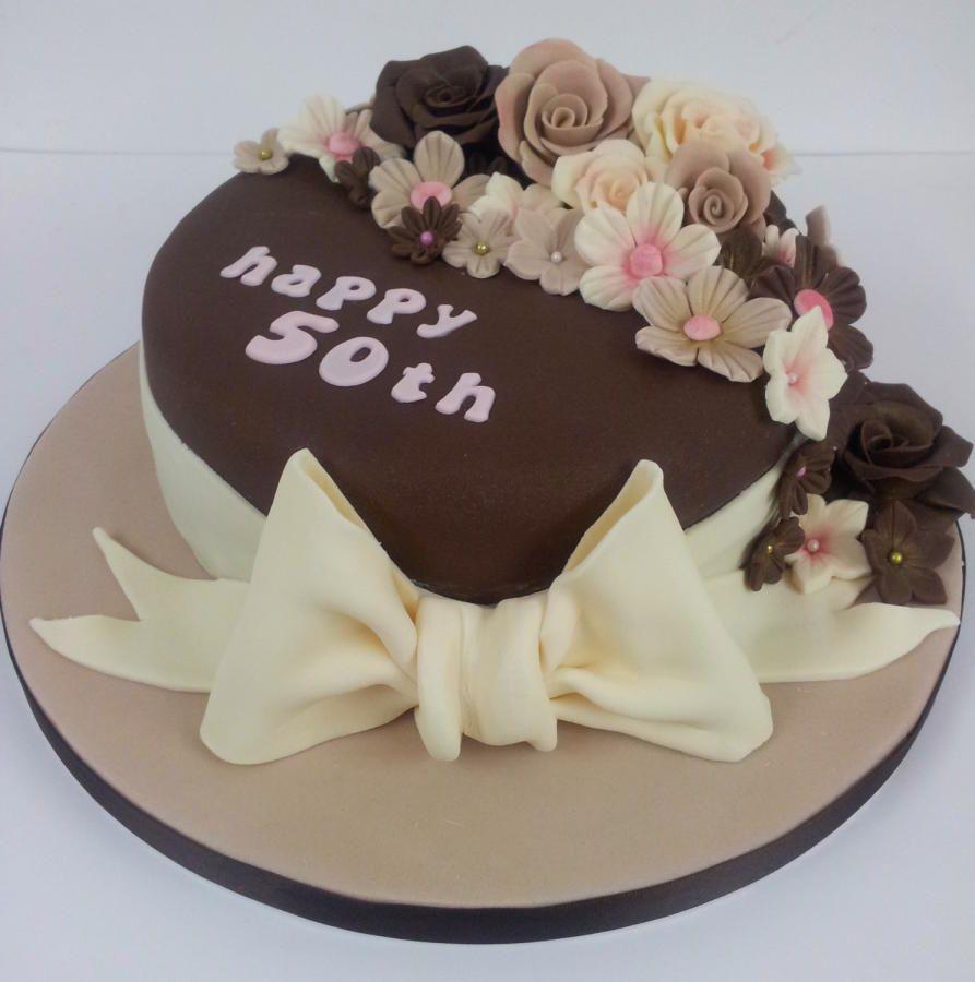 Chocolate 50th Birthday Cake Birthday cake for mom, 50th