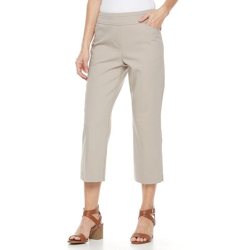 Women's Dana Buchman Pull-On Crop Pants, Med Beige