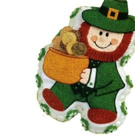 Leprechaun Cake Made From The Wilton Teddy Bear Cake Pan