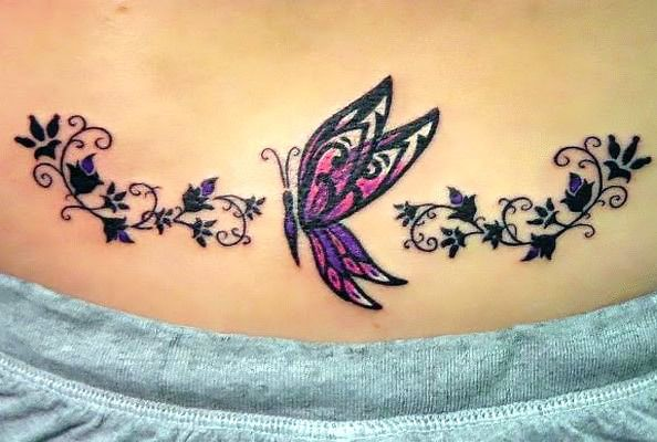 Cute Butterfly Tramp Stamp Tattoo Idea Butterfly Tattoos For