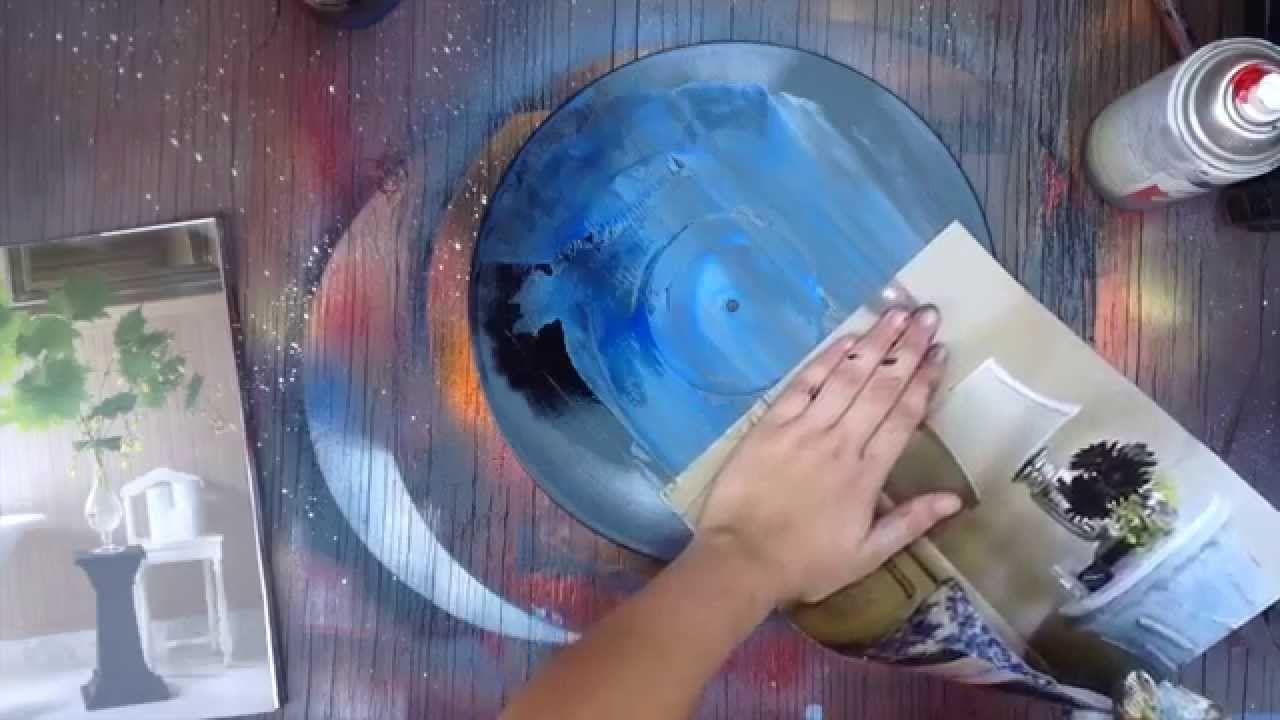 Spray Painting On Vinyl Record Spray Paint Art Vinyl Art Spray