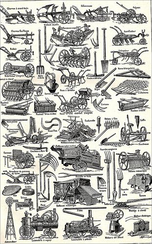 The 1920s 1922 Larousse Universel Illustration Agriculture Farm Machinery Old Farm Equipment Agriculture Machinery