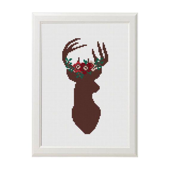 Cross Stitch pattern Deer Cross stitch от AnimalsCrossStitch