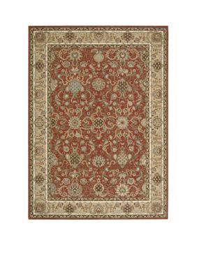 Kathy Ireland  Lumiere Stateroom Brick Area Rug - Online Only