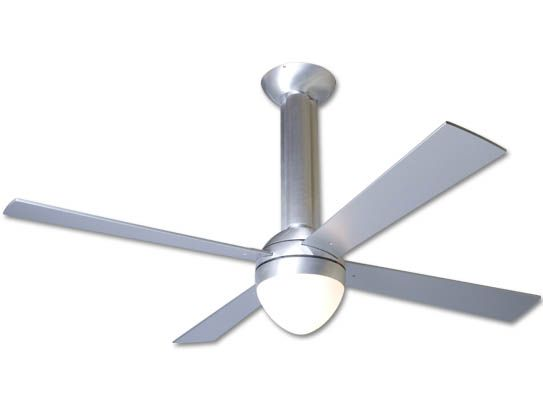 stratos ceiling fan - brushed aluminum