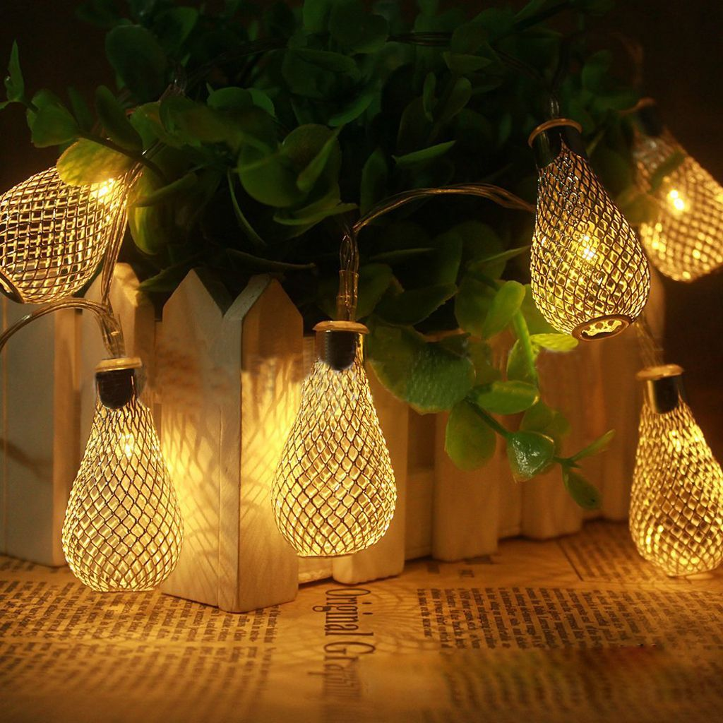 This Item Battery Operated Moroccan Bulb String Fairy Lights Xmas Wedding X 2 Bright And Decorative Led For Party