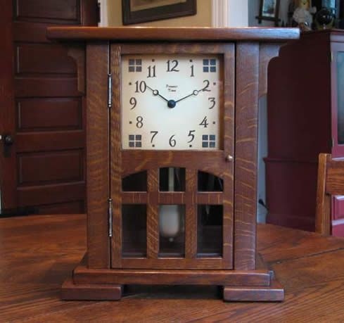 Highland Bungalow by Present Time Clocks.