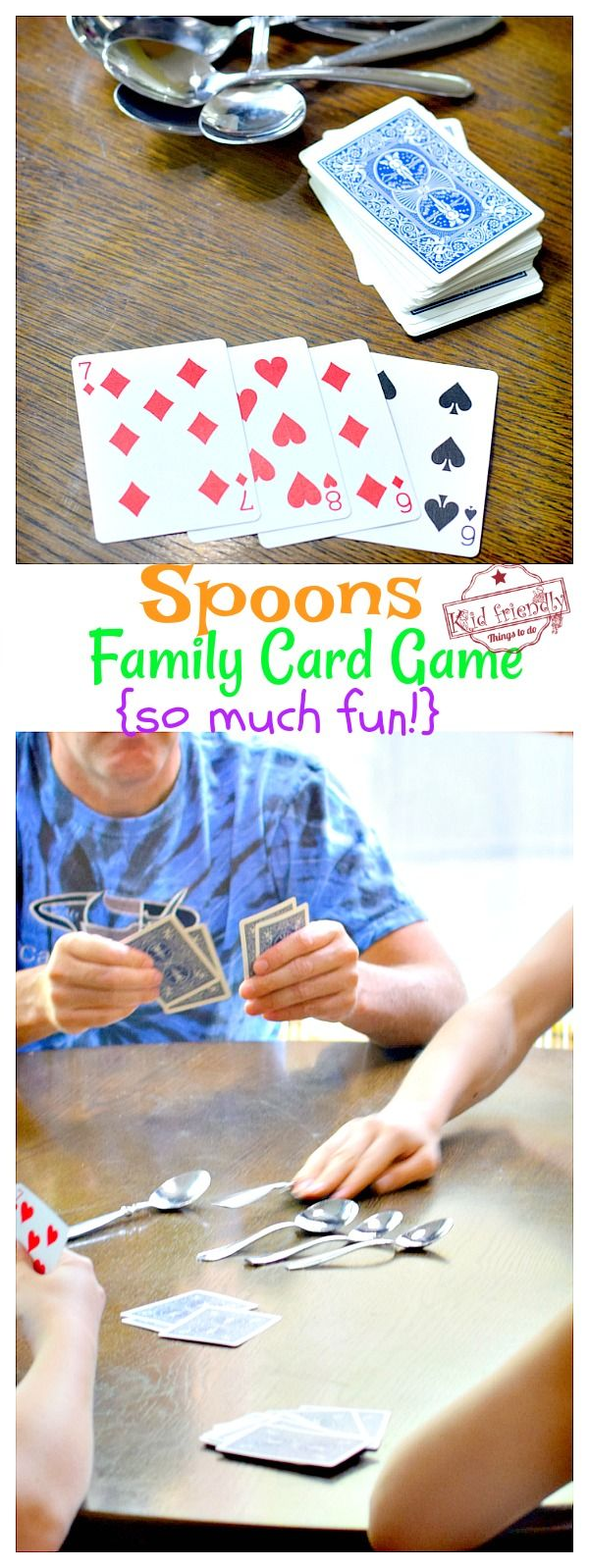 How To Play Spoons Card Game Fun For All Ages With Video Kid Friendly Things To Do How To Play Spoons Fun Card Games Card Games For Kids
