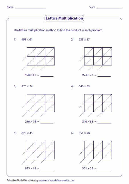 3 and 2 digit lattice multiplication math lattice multiplication multiplication worksheets. Black Bedroom Furniture Sets. Home Design Ideas