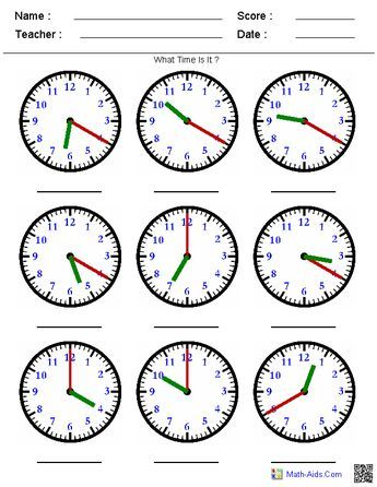 Telling Time On A Clock A Huge Variety Of Worksheets That You Can Generate Based On What You Re Teac Time Worksheets Clock Worksheets Telling Time Worksheets