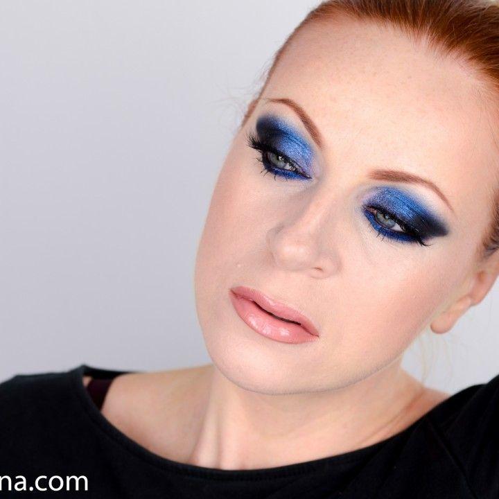 Dark Blue Glittery Smokey Eyes Makeup Looks Pinterest Monica