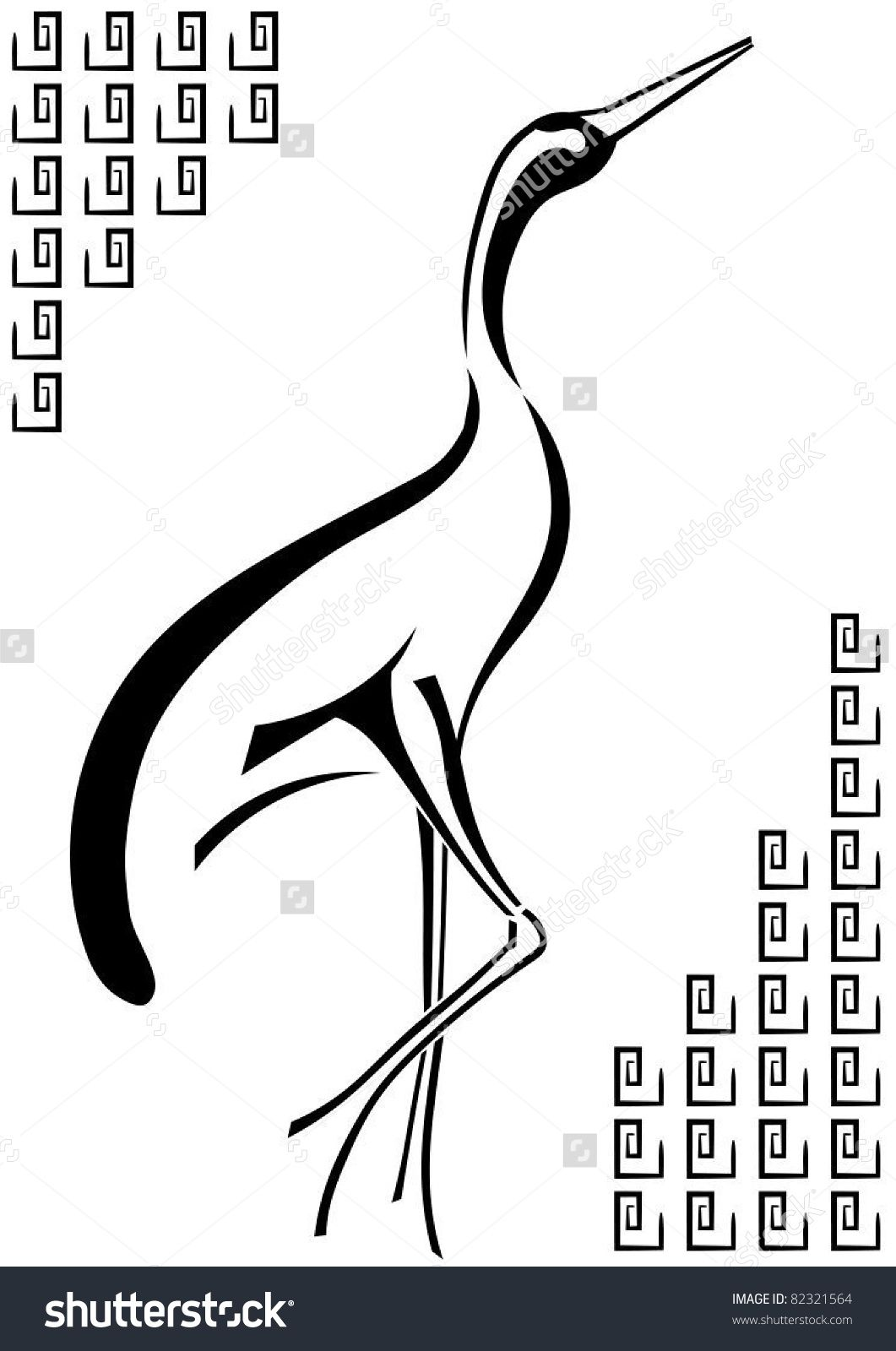 Japanese crane stock vectors vector clip art