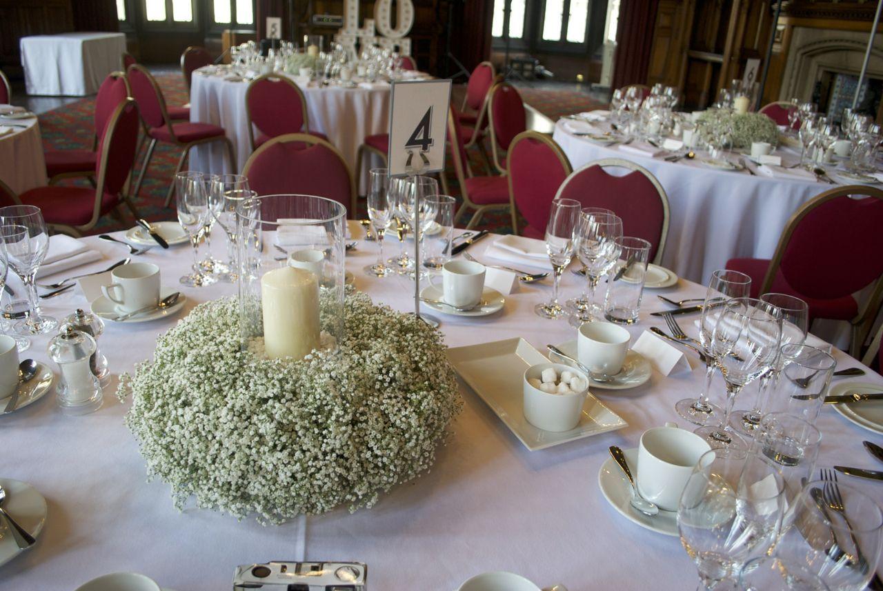 Manchester Town Hall Wedding Flowers Table Lanterns Wedding