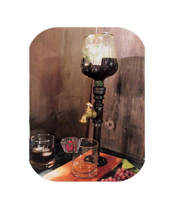 Farm Wedding Cedar Lake Cellars: Liquor Dispenser Attached To Rustic Natural Treated Cedar