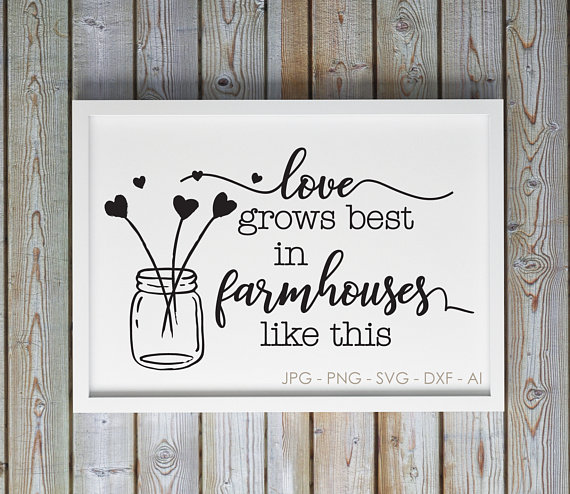 Download Love Farm Chic SVG Saying, Vinyl Craft Silhouette Quote ...