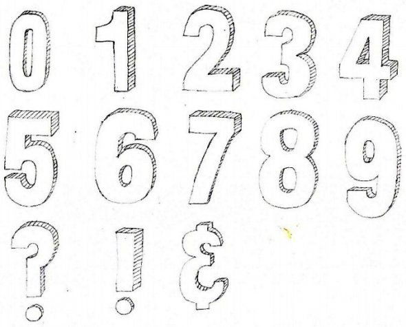 D Bubble Numbers  Tangle Letters    D Number And D