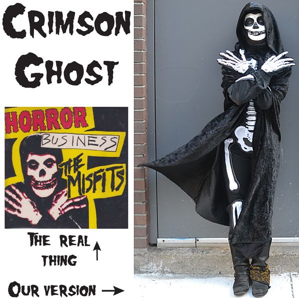Crimson Ghost Diy Halloween Costume Misfits My Style Diy