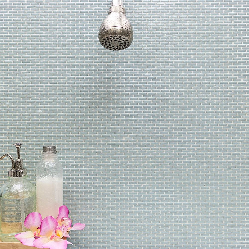 Halcyon Mini Brick Recycled Glass Tile | Tilebar.com | Tile ...