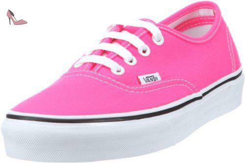 Vans Authentic, Baskets mode mixte adulte - Rose (Neon Pink/Tru),