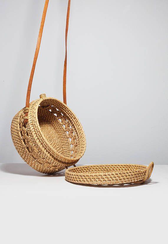 Patrón clásico ronda bolsa de canasta tejido diseño redondo | La ...