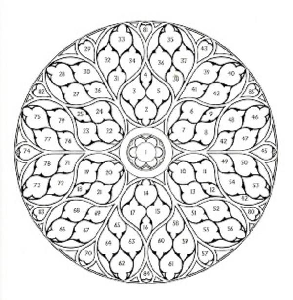 Intricate Coloring Pages Compass Rose Coloring Pages