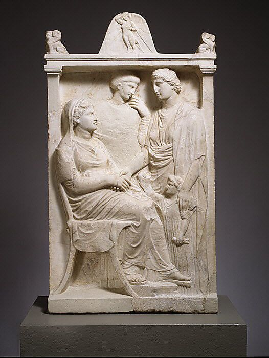 Marble Stele Grave Marker Of A Woman Greek Attic Late Classical The Metropolitan Museum Of Art Ancient Greek Art Ancient Greek Sculpture Greek Art