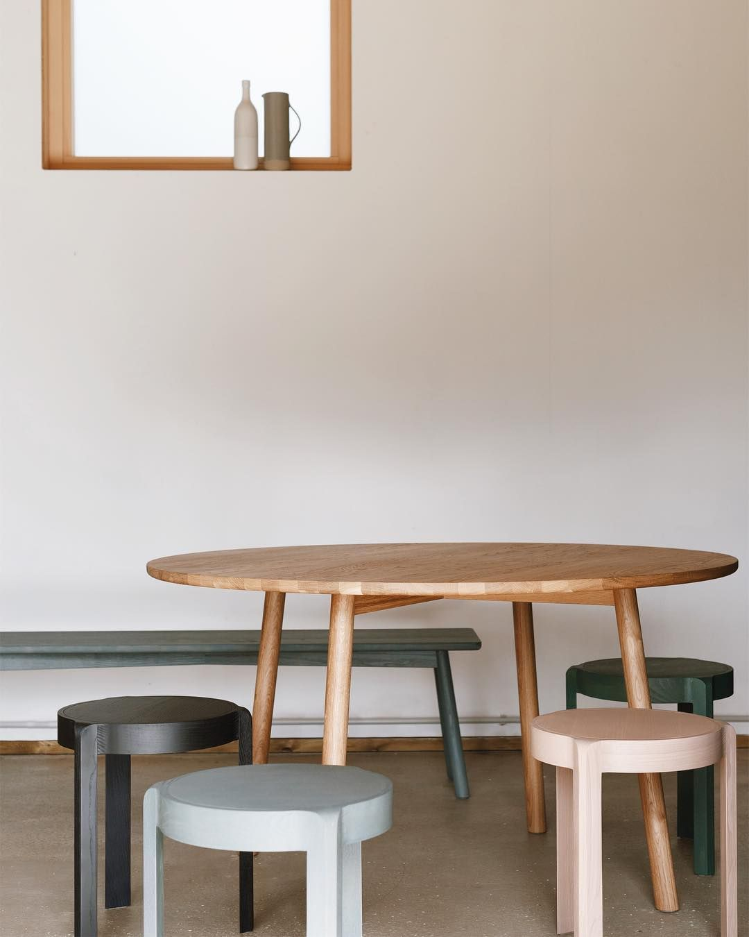 Table And Swedes Spin Stools