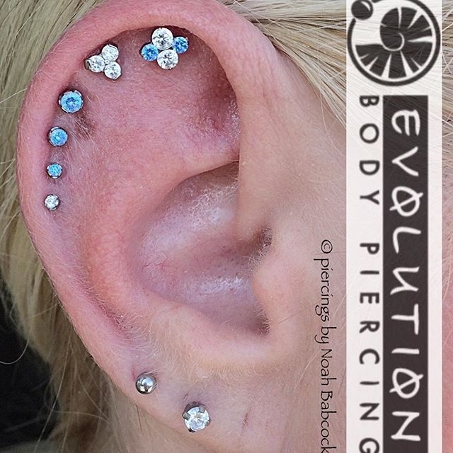 Six healed #helixpiercing \'s with #titanium jewelry by ...