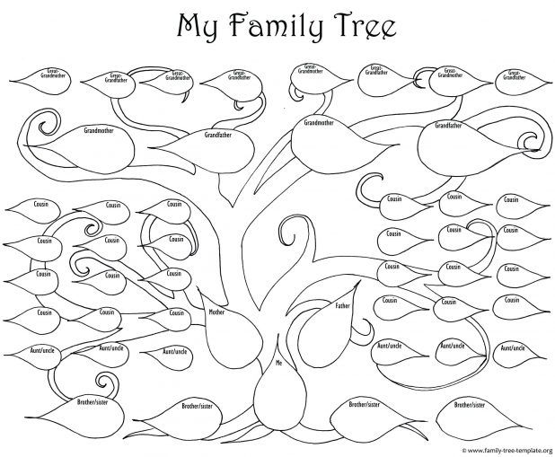 The Big Printable Family Tree As A Fun Coloring Page For Kids Print
