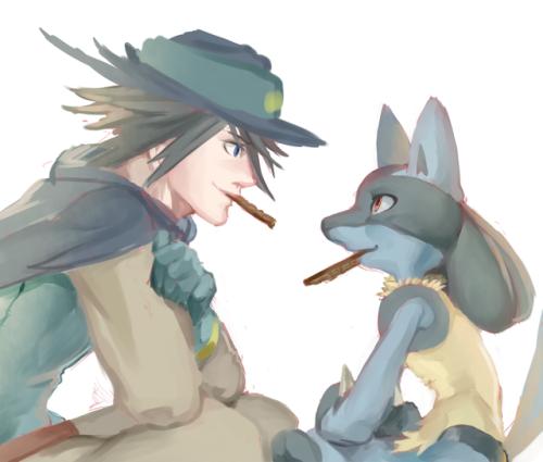 Lucario pokemon naked
