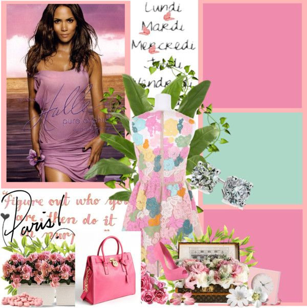 """""""pretty in pink"""" by tanisha-flowers on Polyvore"""