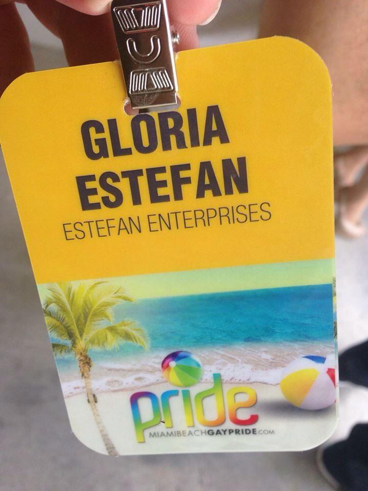 Gloria in Miami Gay Pride Parade!
