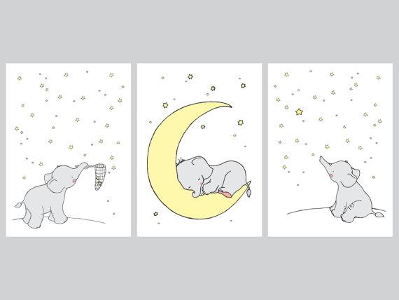 Elephant Printable Nursery Setelephant Decorelephant